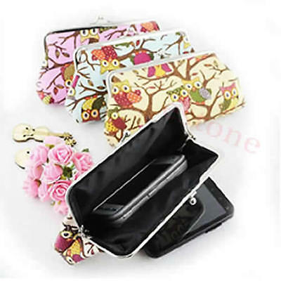 European Fashion Women Style Lovely Owl Lady Wallet Hasp  Purse Clutch Bag 1pc