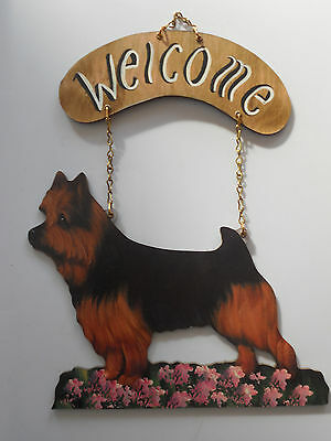 Colorful Indoor Dog Welcome Sign NEW Norwich Terrier