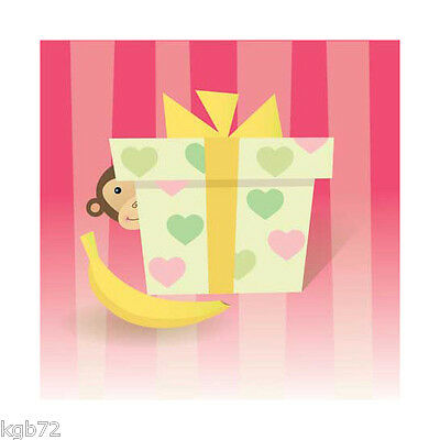 3D Monkey Love Pop Up Greeting Card Up With Paper #957 Valentine's Day Love