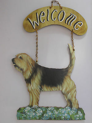 Colorful Indoor Dog Welcome Sign NEW Otterhound