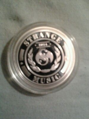 Strange Music Collector Coin coated in .999 pure fine silver