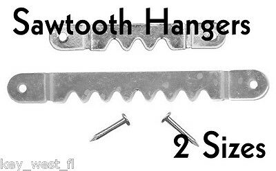 SAWTOOTH PICTURE HANGERS w/NAILS ~ 2 Sizes ~ BULK PACK Lot of 100 to 5000 by PLD