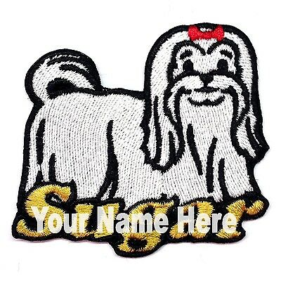 Iron-on Maltese Dog Patch With Name Personalized Free