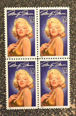 1995USA #2967 32c Marilyn Monroe - Legends of Hollywood - Mint NH Block of 4