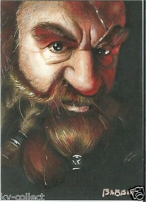 THE HOBBIT DWARF GOLIN SKETCH CARD By Kyle Babbitt - Lord of the Rings