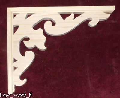 "Victorian Wood Gingerbread {16"" x 12""} Porch & House Trim Bracket #10 ~ by  PLD"