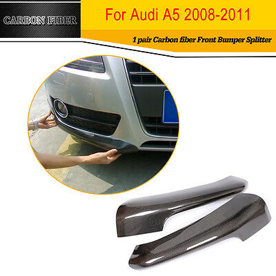 Front Bumper Wing  chin lip  splitter  for Audi A5 Coupe Sportback Carbon Fiber