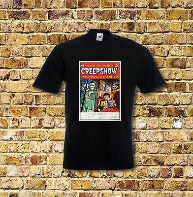 Creepshow Horror Film T Shirt Black or White or Red