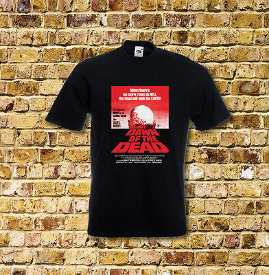 Dawn of the Dead Horror Film T Shirt Black or White or Red