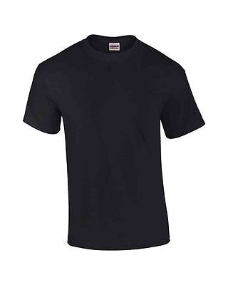 Plain Gildan T Shirts Top Tees Tshirts Heavy Cotton Short Sleeve Soft - New