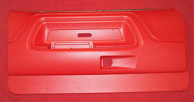 1970 71 72 73 74 CHALLENGER INTERIOR FRONT DOOR PANELS SET OF 2, COUPE ONLY, RED