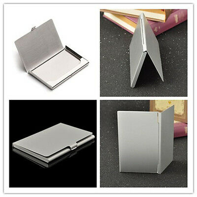 High Quality Business Name Credit ID Card Holder Stainless Steel Pocket Box Case