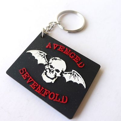 NEW AVENGED SEVENFOLD RUBBER KEYCHAIN ROCK MUSIC Memorabilia Gift Collectible