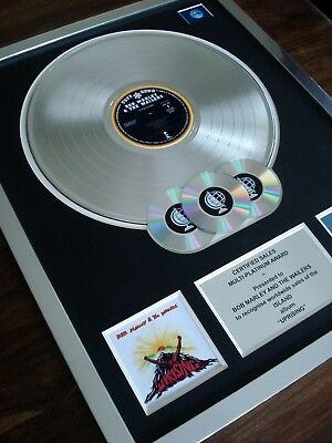 Bob Marley Uprising Lp Multi Platinum Disc Record Award Album