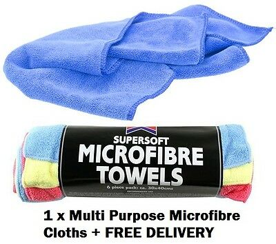 1 x Safe Absorbant Microfibre Car & Home Clean, Wax, Wash & Valeting Towel Cloth