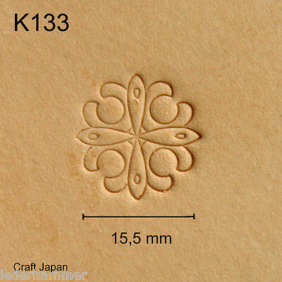 Punziereisen, Lederstempel, Punzierstempel, Leather Stamp, K133 - Craft Japan