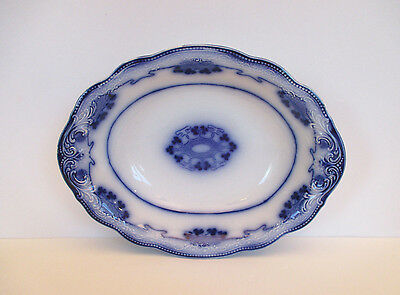 "Antique Flow Blue ""Lorne"" Serving Bowl, W. H. Grindley, England 1891-1914"