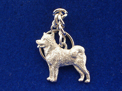 GG Harris Fine Pewter Dog Key Ring Chain & Pouch NEW Alaskan Malamute
