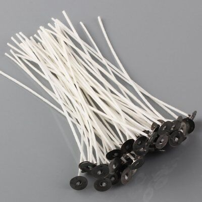 Lots CANDLE WICKS Pretabbed 6 inch Cotton CORE Candle Making 50 to 200 pcs