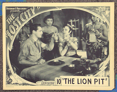 Lost City '35 William Boyd Science Fiction Adventure Serial Lobby Card