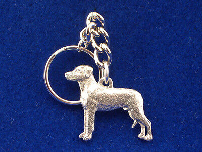 GG Harris Fine Pewter Dog Key Ring Chain & Pouch NEW Rhodesian Ridgeback