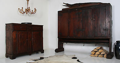 ANTIKE ARCHAISCHE  KREDENZ 18. JH CREDENZA  late 18th ct. ITALY CABINET crédence