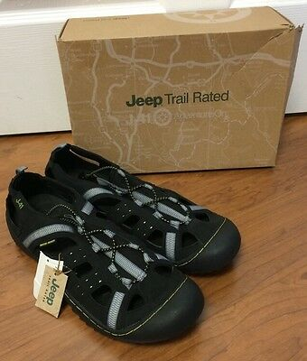 NEW! Mens Jeep Trail Rated J-41 GROOVE ll hiking/water shoe Black/Kiwi Sz 8