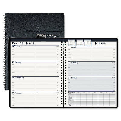 House of Doolittle Weekly Business Planner, 7 x 10, Black, 2014