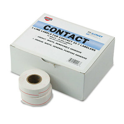 One-Line Pricemarker Labels, 7/16 x 13/16, White, 1200/Roll, 16 Rolls/Box