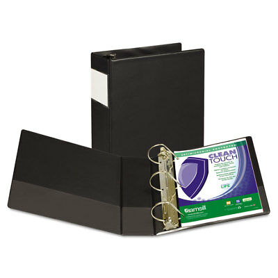 Clean Touch Antimicrobial Locking D-Ring Binder, 11 x 8-1/2, 4'' Capacity, Black