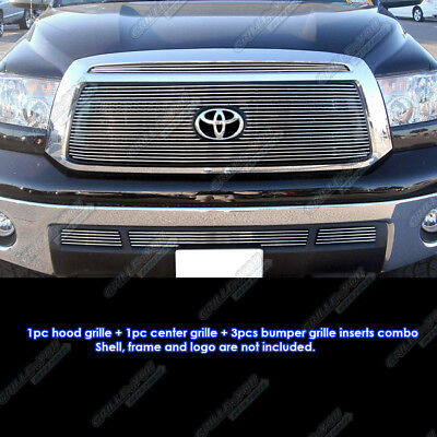 Fits 2010-2013 Toyota Tundra Billet Grille Grill Insert Combo 2011 2012