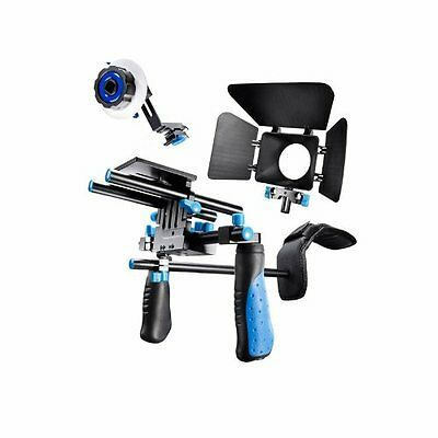 eimo DSLR Rig Movie Kit Shoulder Mount Rig with Follow Focus and Matte Box for