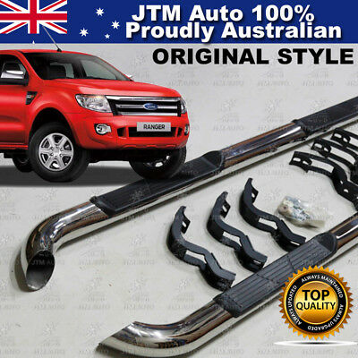 "Ford Ranger PX Running Boards Side Steps 3"" Stainless Steel 2011-2015"