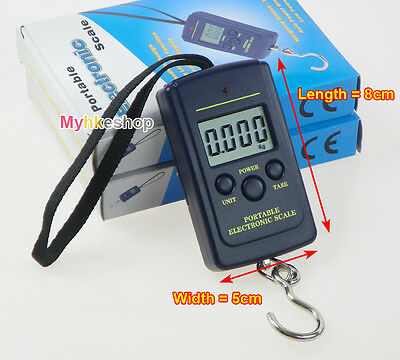 40Kg/10g Portable Electronic LCD Digital Hanging Luggage Weight Hook Scale