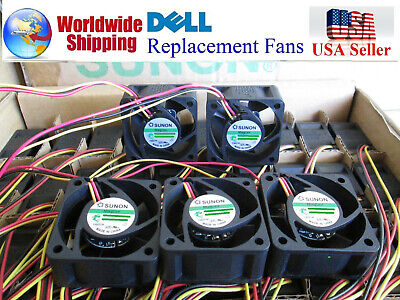 Quiet Dell PowerConnect 3524P Fan Kit (G636F), 5x Fans Best for Home Networking!