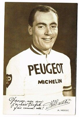 Ancienne Carte Photo Cyclisme Nedelec
