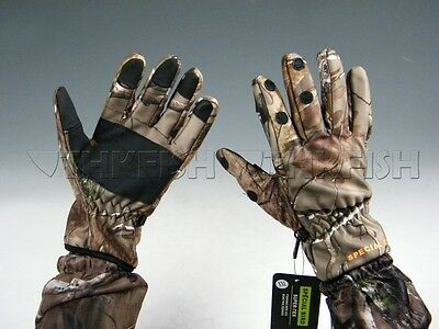 Bionic Camouflage Mossy Oak Thick Warm Camouflage Camo Fishing Hunting Gloves