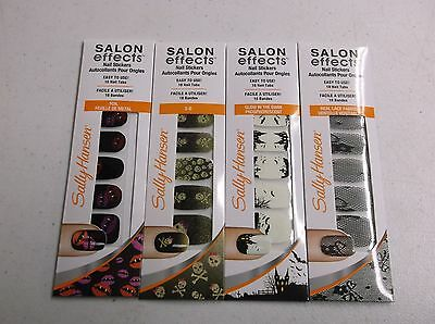 SALLY HANSEN SALON EFFECTS 4 LIMITED EDITION REAL NAIL POLISH STRIPS - NEW DL54