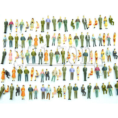 100 pcs. 1:50 Scale Figures Architectural Human Figure Peoples Sitting, Standing