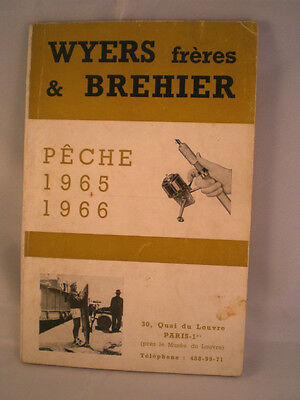 Vintage Wyers Freres Et Brehier Advertising Fishing Catalogue For 1965/66 Season