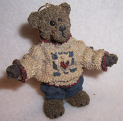 FOB BOYDs ornament BEAR blue jeans sweater limited edition hand signed patriotic