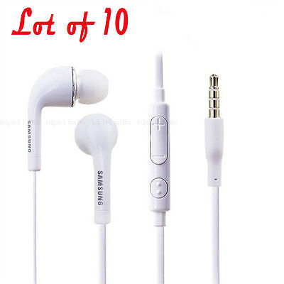 New Lot of 10 Samsung OEM Galaxy Note 2 3 S3 S4 S5 Headset Earphone EO-HS3303WE