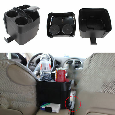 1 x New 3 in 1 Car Cup Holder Drink Bottle Holders Can Trash Dustbin Tissue Clip