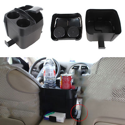 1x Car Vehicle Beverage Bottle Can Drink Cup Holder Stand Clip Accessories Black