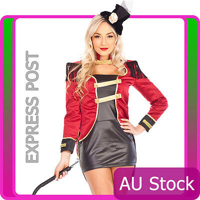 Ringmaster Circus Lion Tamer Showgirl Fancy Dress Halloween Costume Outfit Hat  sc 1 st  PicClick & Ringmaster Circus Lion Tamer Showgirl Fancy Dress Halloween Costume ...