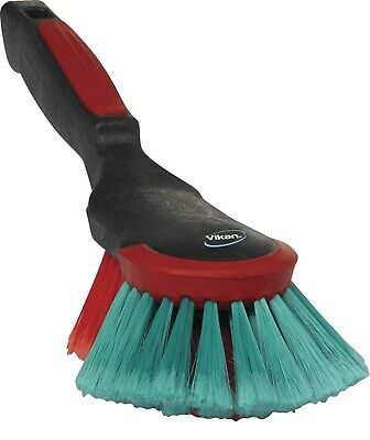 Vikan 524652 Heavy Duty Car Wash Cleaning Brush Soft Bristles Hand Rubber Buffer