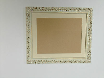 Ornate Cream Shabby Chic Picture/Photo Frame With Picture Mount - Varioius Sizes