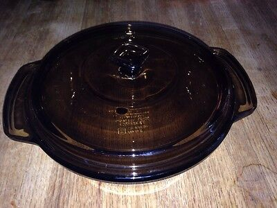 Anchor Hocking Amber Casserole Serving Bowl and Lid 1.5 Quart Made in USA