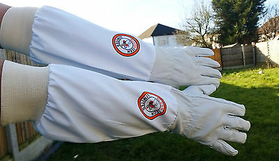 Beekeeper Bee Gloves Beekeeping gloves Goat skin Leather & 100% Cotton LARGE