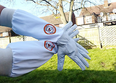 Beekeeper Bee Gloves Beekeeping gloves Goat skin Leather & 100% Cotton XLARGE